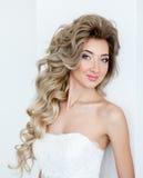 Happy beautiful bride smiling Royalty Free Stock Photos