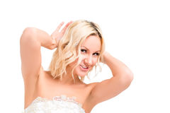 Happy and beautiful bride Royalty Free Stock Photography