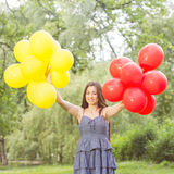 Happy Beautiful Carefree Young Woman Royalty Free Stock Photo