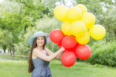 Happy Beautiful Carefree Young Woman Stock Image