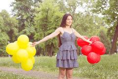 Happy Beautiful Carefree Young Woman Stock Photo