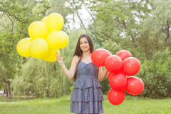 Happy Beautiful Carefree Young Woman Stock Photography