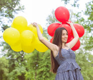 Happy Beautiful Carefree Young Woman Stock Photos