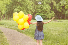 Happy Beautiful Carefree Young Woman Royalty Free Stock Photography