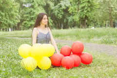 Happy Beautiful Carefree Young Woman Royalty Free Stock Photos
