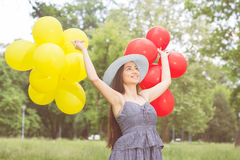 Happy Beautiful Carefree Young Woman Royalty Free Stock Images