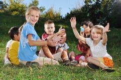 Happy beautiful children playing Royalty Free Stock Photo