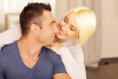 Happy beautiful couple bonding Royalty Free Stock Image