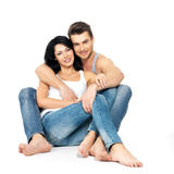 Happy Beautiful Couple In Love Royalty Free Stock Photo