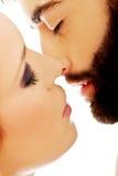 Happy beautiful couple kissing. Stock Photography
