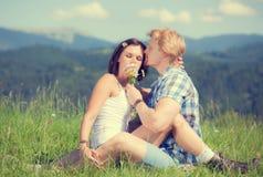 Happy beautiful couple in love Stock Photo
