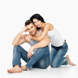 Happy beautiful  couple in love Stock Photography