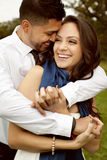 Happy beautiful couple in love. Royalty Free Stock Photography