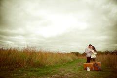 Happy beautiful couple in love. Stock Photo