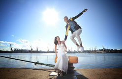 Happy beautiful couple Royalty Free Stock Images
