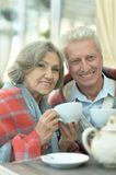 Happy beautiful elderly people Royalty Free Stock Photography