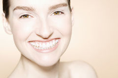 Happy And Beautiful Face With Clean Fresh Skin Royalty Free Stock Image