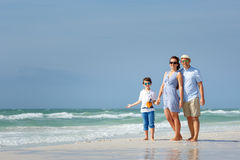 Happy beautiful family on Florida summer holiday vacation Royalty Free Stock Photos