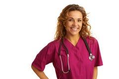 Happy beautiful female healthcare practitioner Stock Image