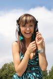 Happy beautiful girl Stock Photo