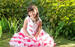 Happy beautiful girl in dress Royalty Free Stock Image