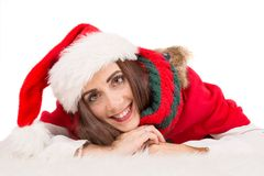 Girl in Christmas Stock Photography