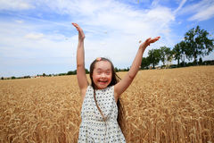 Happy beautiful girl Stock Photography
