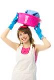 Happy beautiful housewife Stock Photo
