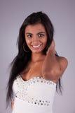 Happy and beautiful latin woman Stock Photos