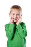 Happy beautiful little boy Stock Image