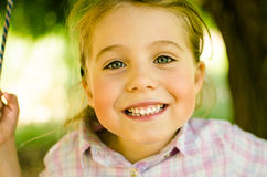 Happy and beautiful little girl Stock Photography