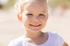 Happy beautiful little girl portrait outdoors Royalty Free Stock Photo