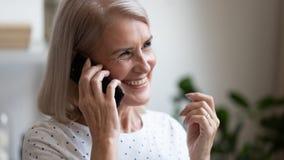 Free Happy Beautiful Mature Woman Making Phone Call Close Up Royalty Free Stock Photos - 158579558