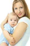 Happy beautiful mother with her baby Royalty Free Stock Photo