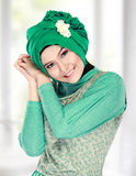 Happy beautiful muslim woman smiling Stock Images