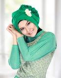 Happy beautiful muslim woman smiling Stock Images