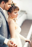 Happy and beautiful newlyweds Royalty Free Stock Photography