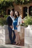 Happy beautiful pair royalty free stock photos
