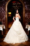 Beautiful sexy bride in white wedding dress Royalty Free Stock Image