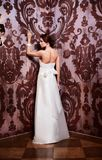 Beautiful sexy bride in white wedding dress Stock Photos