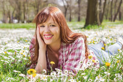 Happy Beautiful Spring Young Woman Royalty Free Stock Photo