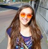 Happy beautiful student girl Royalty Free Stock Photo