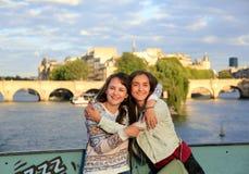 Happy beautiful student girls Royalty Free Stock Photos
