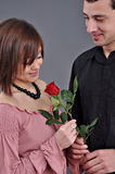 Happy Beautiful Teenage Couple Stock Images