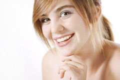 Happy beautiful woman stock images