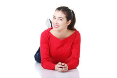 Happy beautiful woman in casual clothes Royalty Free Stock Photo