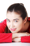 Happy beautiful woman in casual clothes Stock Image