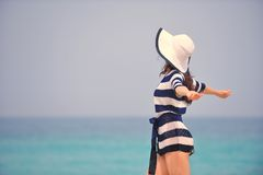Happy Beautiful Woman Enjoying Summer Vacation Royalty Free Stock Photo