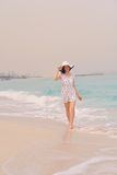 Happy Beautiful Woman Enjoying Summer Vacation Royalty Free Stock Image