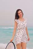 Happy Beautiful Woman Enjoying Summer Vacation Stock Images